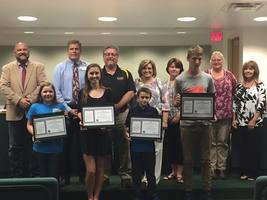 Students w Perfect Scores Recognized