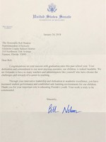Congratulations from Senator Bill Nelson