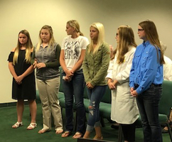 FFA Team Presented to School Board