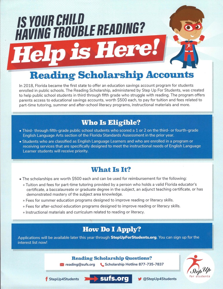 Upcoming Reading Scholarships!