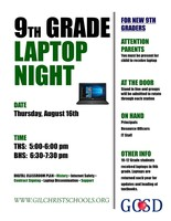 9th Grade Laptop Night