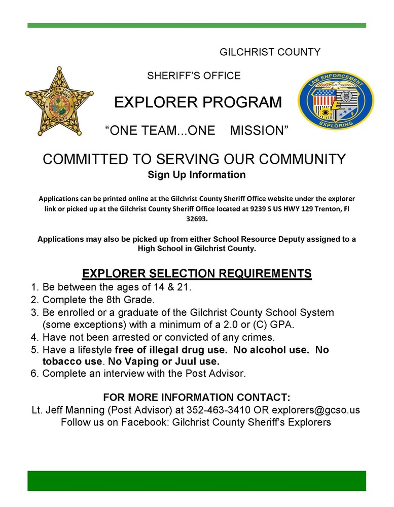 Gilchrist County Sheriff's Office Explorer Program
