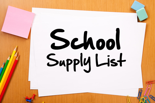 2020-21 Supply Lists