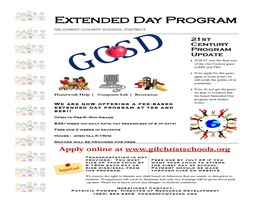 Extended Day Now Available!