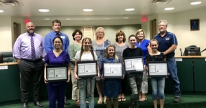 School Board Recognition for Perfect FSA Math Scores 2019