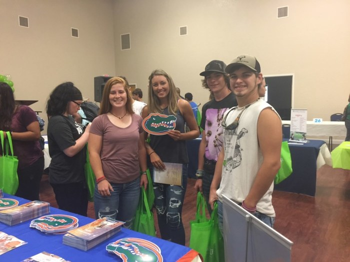 Seniors at Alachua County career fair.