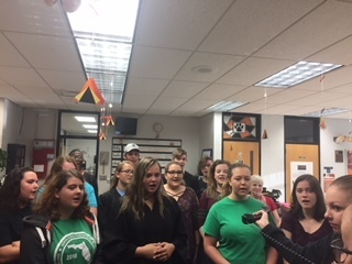The THS Chorus sings the Alma Mater