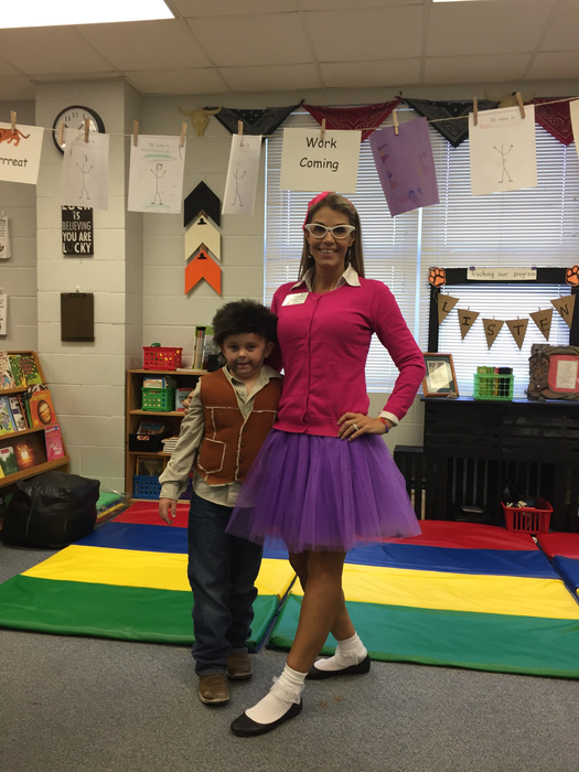 Character Day at TES: Junie B. Jones and Daniel Boone
