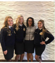 FFA Advisor Ashley Thoron with students at Convention