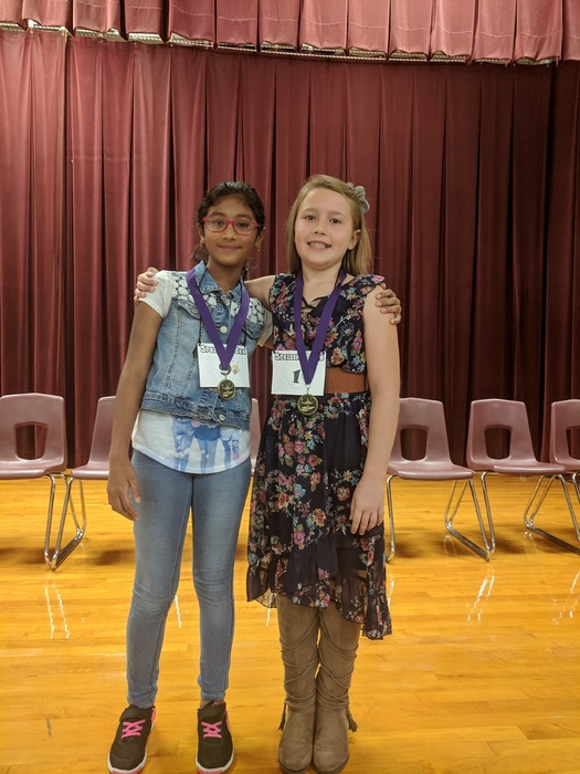 Spelling bee winner and runner-up