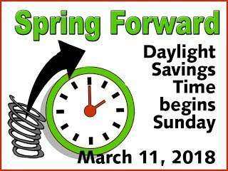 Spring Forward - Daylight Savings Time Begins