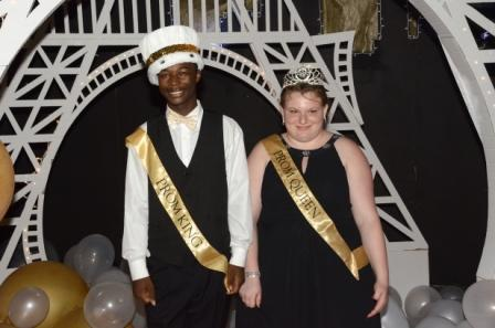 Prom King and Queen Quincy Roper and Charlene Edwards